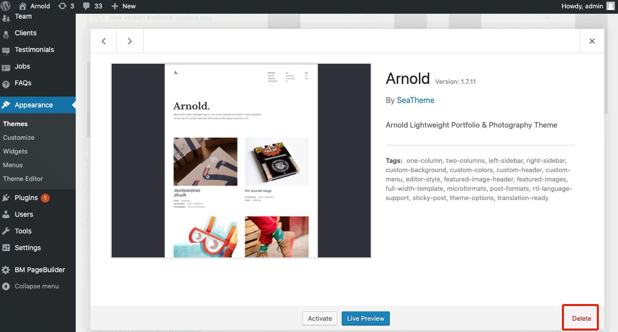 Delete Arnold